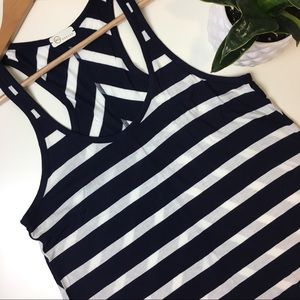 AG striped navy tank top